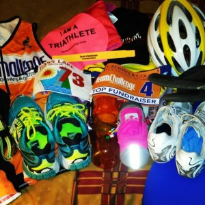 There is a LOT of stuff needed when traveling for a triathlon
