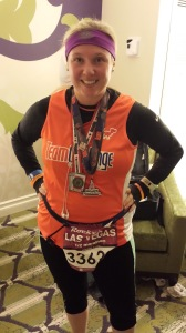 The race bling from Las Vegas Half Marathon